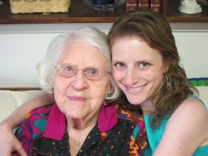 Me with Grandma L on her 100th Birthday